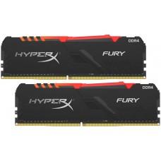 16GB Kingston DDR4 3000 DIMM HyperX FURY RGB Black Gaming Memory