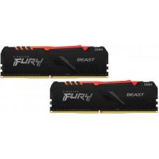 Kingston FURY Beast Black RGB 16GB DDR4 3200MHz (8GB*2)